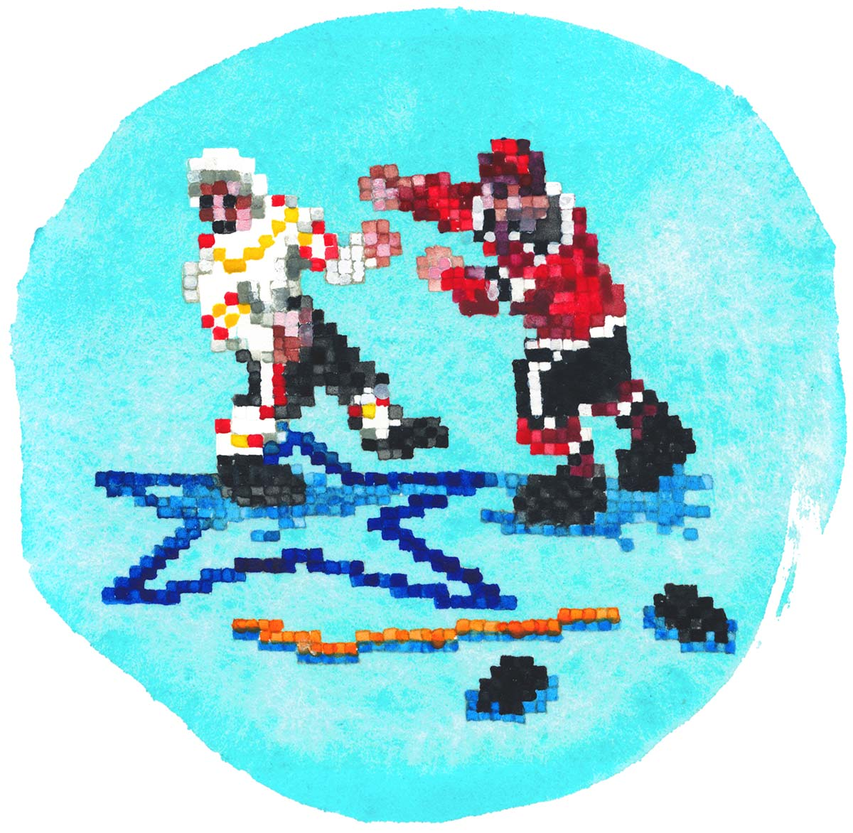 NHL Hockey '94 Fighting Sega Mega Drive Genesis